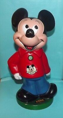Mickey Mouse Club Coin Bank Vintage 1970's By Animal Toys Plus EUC Made in USA