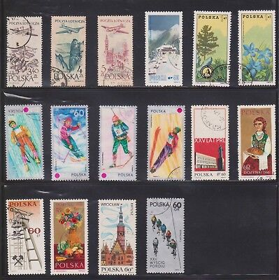 (U31-17) 1950-70s Poland mix of 32 stamps value to 5ZT (Q)
