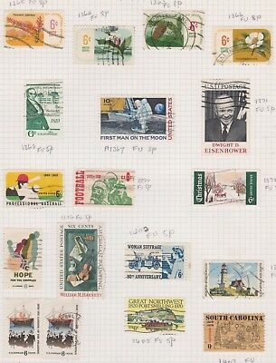 (K44-11) 1969-70 USA mix of 18 stamps valued to 10c (K)