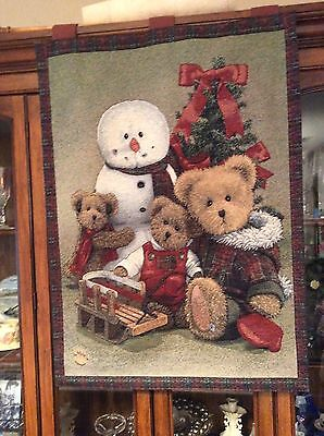 Boyds Bear Tapestry Christmas Hanging