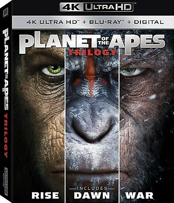 Planet of the Apes Trilogy (4K Ultra HD)(UHD)