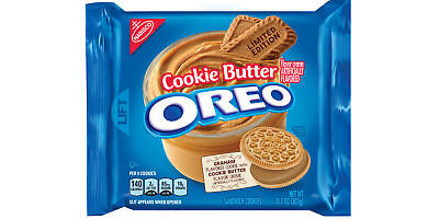 New Sealed Limited Edition Cookie Butter Oreo Graham Flavored Cookie 10.7 Oz