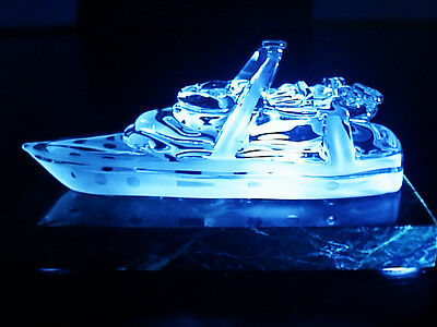 Oceanic Art Celebration Luxuary Yacht Fine Hand Blown Crystal Trophy Sculpture