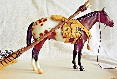 Native American Travois Costume With Breyer Model Bay Appy Stud Spider