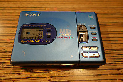 Sony R35 Blau WM MD Minidisc. Recorder/Player.   (013)