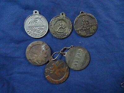 Israel VTG key chain * Plaque medal march metal &  soild brass unique lot of 6