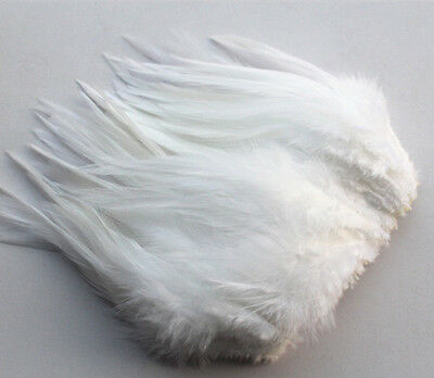 Free shipping  20 pcs beautiful 6-10 cm/2.5-5 inches white pheasant neck feather