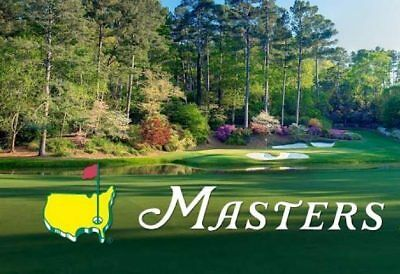2018 Masters Tournament Grounds Badges - Monday April 2 Practice Round Tickets