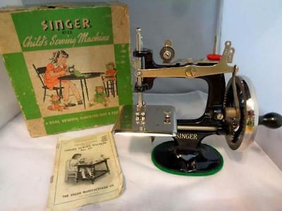 Singer Sewing Machine Child's #20 With Box & Booklet. Excellent!