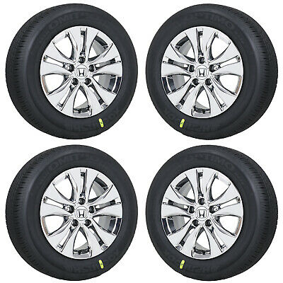 Honda Factory Rims >> 16 Honda Accord Pvd Chrome Wheels Rims Tires Factory Oem Set 4 64046