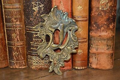 Antique French Escutcheon Large Bronze Keyhole