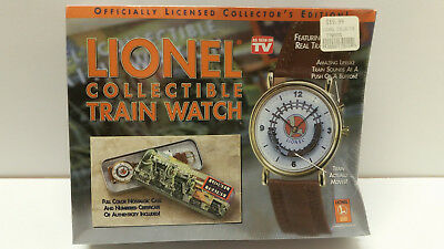 Lionel Collectible Train Watch Sealed Case COA