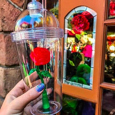 Limited Edition Enchanted Rose Light up Cup Disney Beauty And The Beast New
