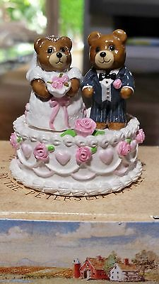 "Wee Forest Folk VINTAGE T-09 ""Wedding Bears"" 1987-1989  Mint"