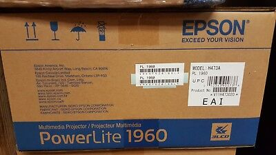 BRAND NEW! Epson PowerLite 1960 3LCD Projector NEW - FREE SHIPPING