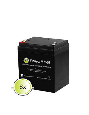 APC RBC43 Replacement Battery 8 Pack 12V 5ah Batteries 12v-5ah 12v-5.5ah