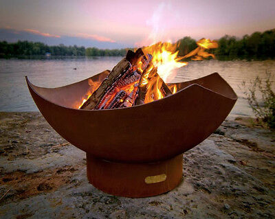 Huge 1/4 Inch Carbon Steel Outdoor Wood Burning Fire Pit Cauldron