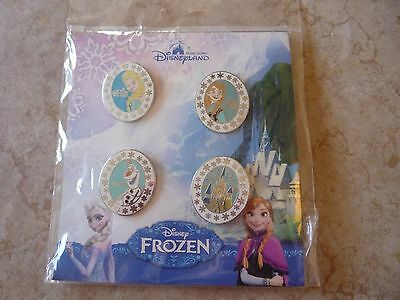 Pin Trading Disney Pins Lot of 4 Frozen Set Elsa Anna Olaf Castle HKDL New