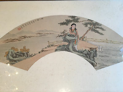 A Framed  Chinese Qing Dynasty Painting on Paper, Signed.
