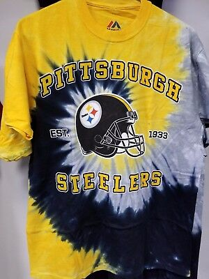 NEW PITTSBURGH STEELERS VERTICAL Tie Dye T-Shirt NEW LICENSED TEAM ... a5031ecea