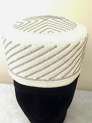 Muslim Men Cap round large prayer for Namaz Skull Topi Tupi Kufi Hat Head wear