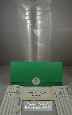 Nutrient Agar Kit, Includes 20 Sterile Petri Dishes with Lids & 20 Sterile...