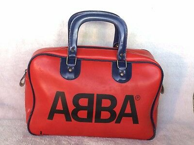 Genuine Vintage Abba Small Overnight Carry Bag  Made In Australia