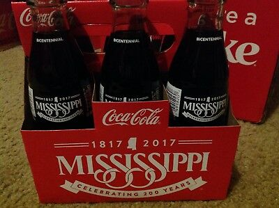 2017 Mississippi 200 Years Bicentennial 6 Pack 8oz Glass Coke Bottle Coca-Cola