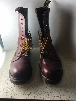 VTG 90sDoc Dr Martens Made in England SZ 9 UK 12 Eye Punk Cherry Red Barely Worn