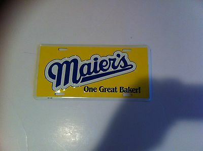 Maiers Bread car license plate