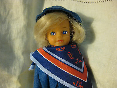 Daisy By Mary Quant Doll Wearing  Klm Airlines Stewardess Outfit