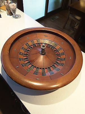 Antique Roulette Wheel from Chicago speak easy. 22 inch diameter.