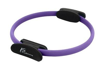 "(Purple) - ProSource Pilates Resistance Ring 14"" Dual Grip Handles for Toning"