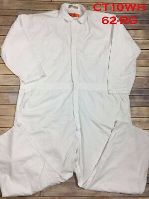 Red Kap Twill Action Back Used Coverall White Men's 62-RG / 4XL CT10WH #67