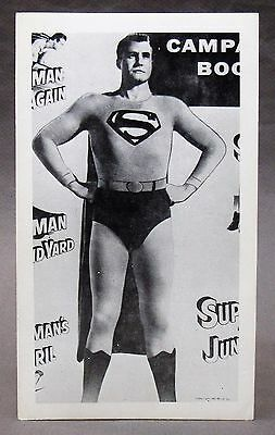 circa 1960 George Reeves SUPERMAN Postcard from TV Show - promotional HI GRADE