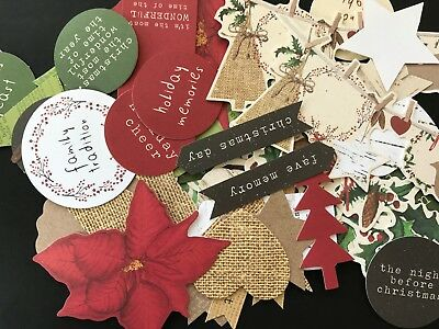 KAISERCRAFT DIE CUT PACKS - HOME FOR CHRISTMAS  (15 pieces in pack)