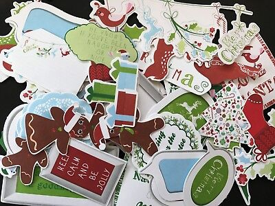 KAISERCRAFT DIE CUT PACKS - SANTA'S LIST  (15 pieces in pack)