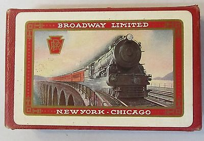 1920's BROADWAY LIMITED Pennsylvania Railroad BOXED deck of Pinochle cards *