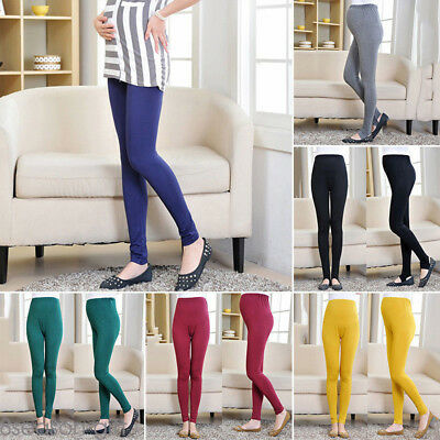 Pregnant Women Adjustable Elastic Pants Plus size High Waist Maternity Leggings