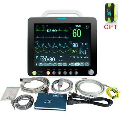 7 INCH Patient Monitor 6Parameter Vital Sign ECG NIBP RESP TEMP SPO2 PR -9000F
