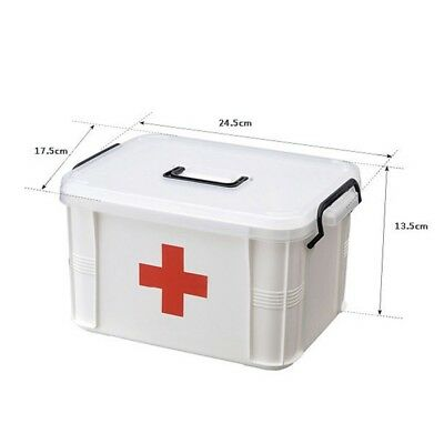 Plastic kit XL medicine storage box family household emergency storage box