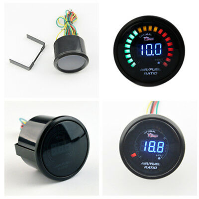 """Digital Racing Car Auto Air to Fuel Ration Gauge 20 LED 2"""" Inch 52MM Universal"""