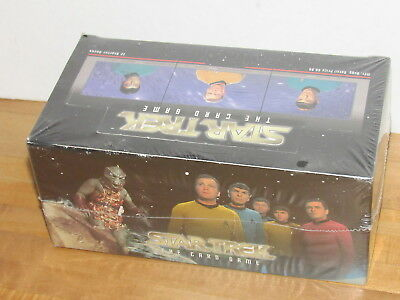 Star Trek The Card Game Starter Decks Fleer Skybox Factory Sealed Box / 12 decks