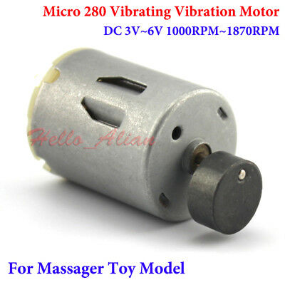 DC 3V~6V Strong Vibration Mini Round 280 Vibrating Motor DIY Massager Toy Model