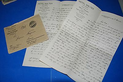 1918 World War, German Captain Field Post Vintage old Letter WWI, Antique yy 27