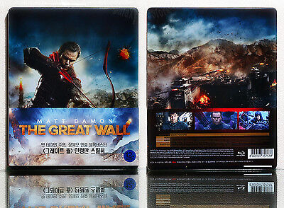 THE GREAT WALL (2016) [Blu-ray] 2D+3D SET, Limited 1/3 Slip (STEELBOOK) Region A