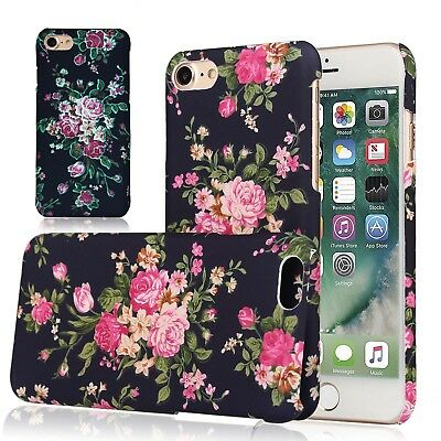 For Apple iPhone 8 Plus Flower Case for Girls Women, Floral Vintage Chic Cover