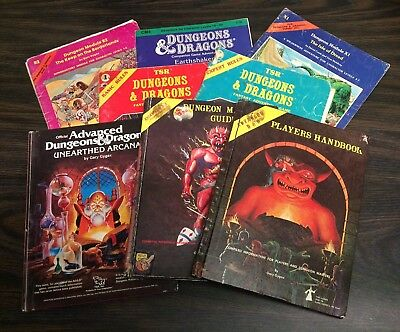 Lot of Vintage Dungeons and Dragons Books