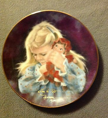 DEAREST DOLLY COLLECTOR PLATE from LITTLE HUGS SERIES by Marian Flahavin-Signed