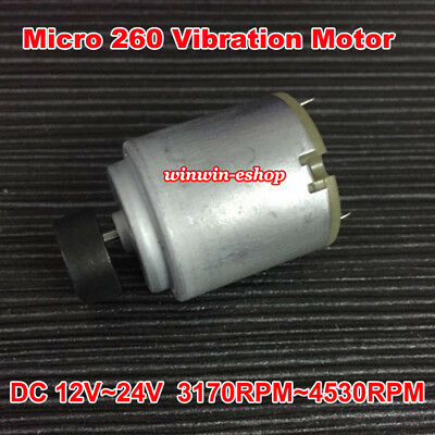 DC 12V~24V Strong Vibration Mini Round 260 Vibrating Motor DIY Massager ToyModel